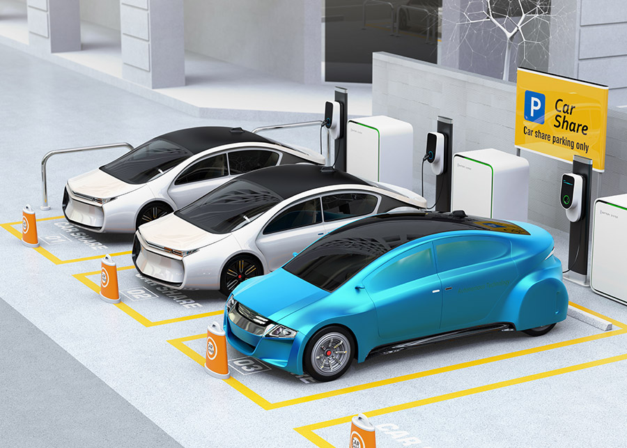 E-mobility recharging cars