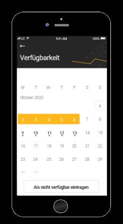 Modis App Screenshot Verfügbarkeit