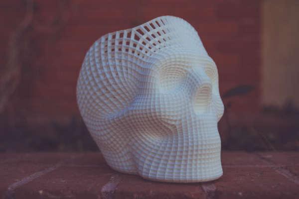 Schädel, der mit 3D-Druck erstellt wurde