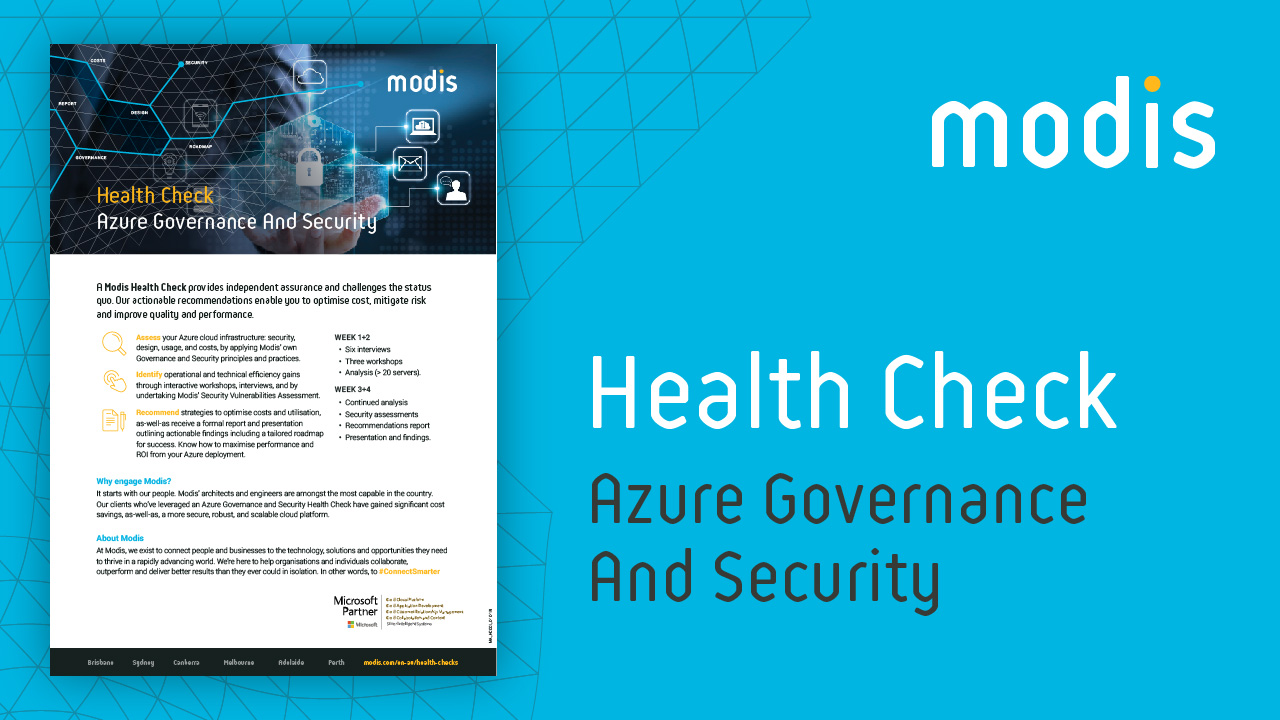 Modis Australia | Health Check - Azure Governance And Security