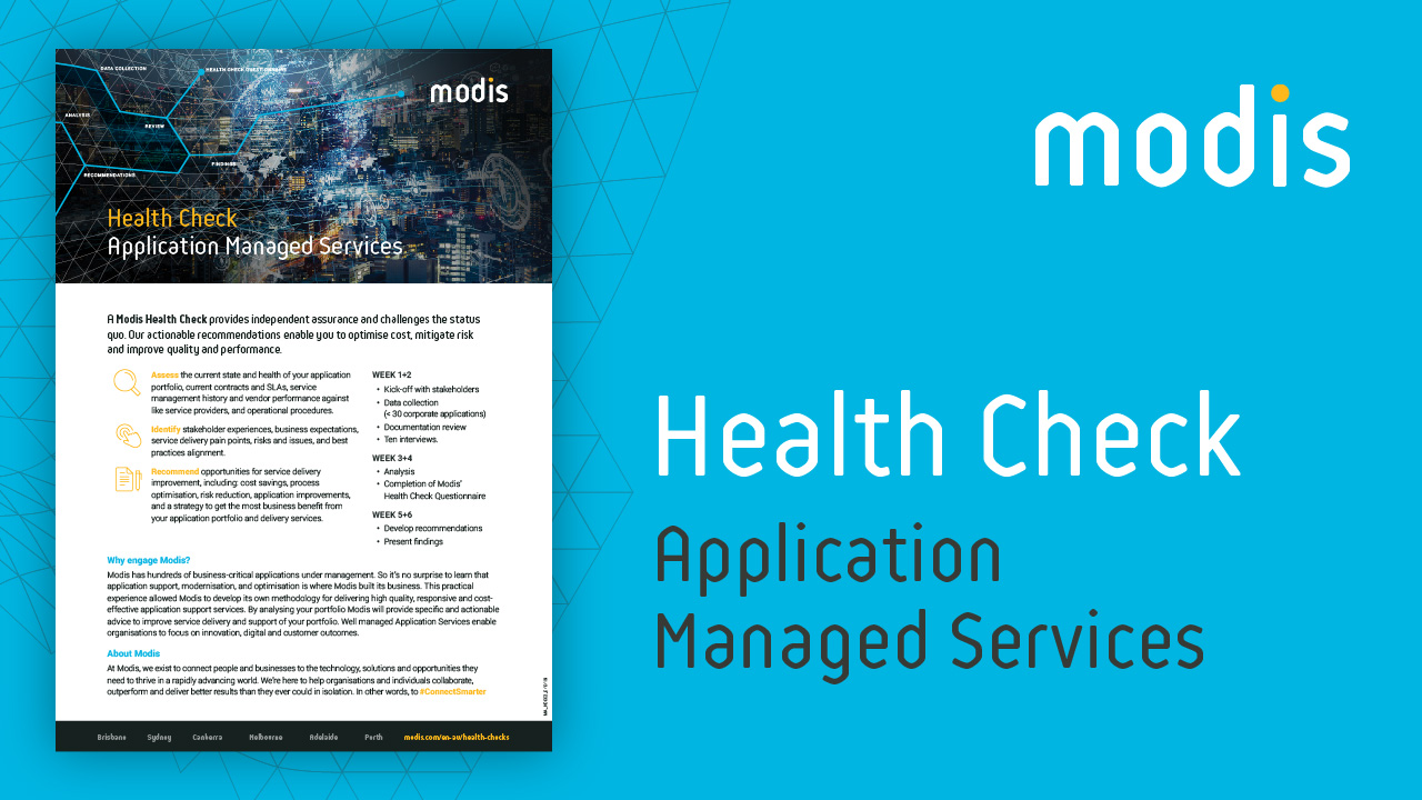 Modis Australia | Health Check - Application Managed Services
