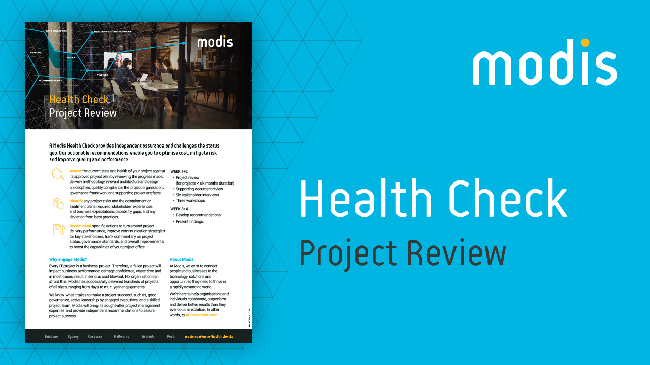 Modis Australia | Health Check - Project Review