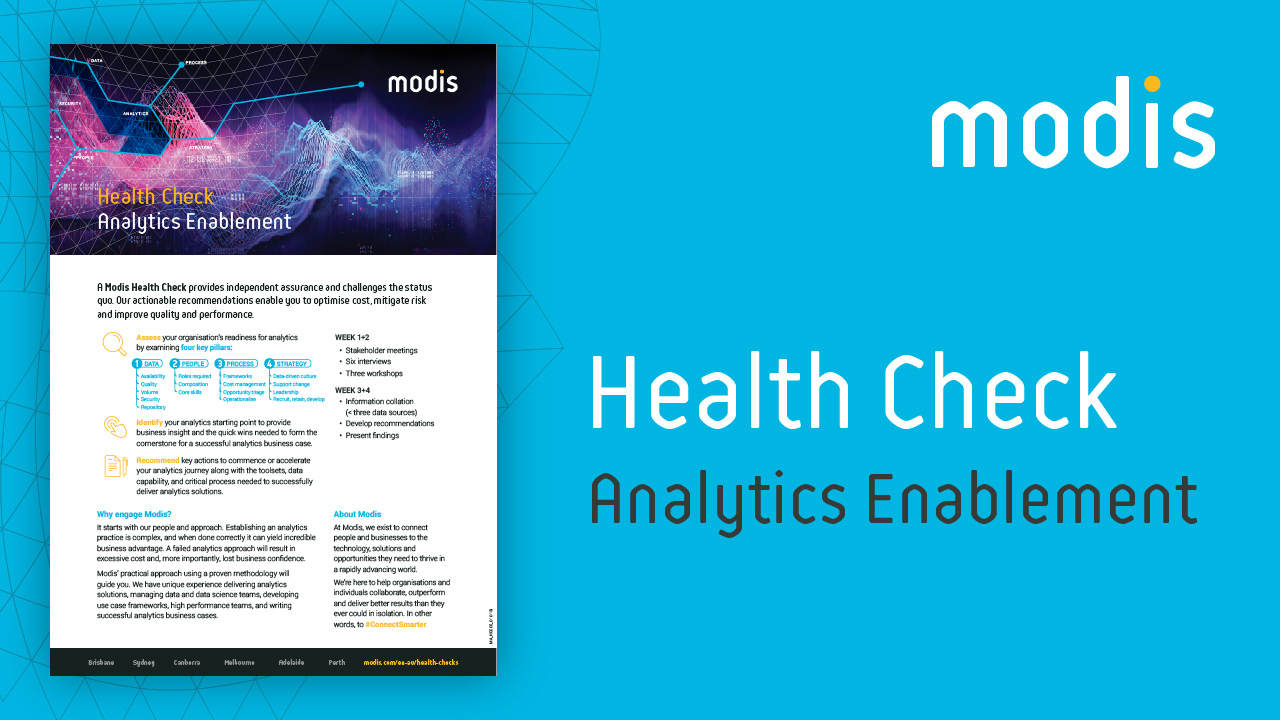 Modis Australia | Health Check - Analytics Enablement
