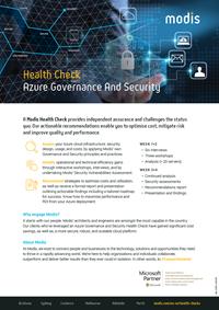 Modis Australia - Health Check Thumbnail - Azure Governance And Security