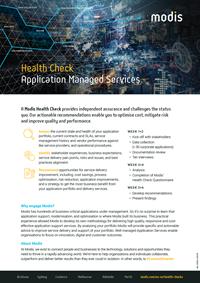 Modis Australia - Health Check Thumbnail - Application Managed Services