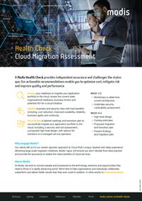 Modis Australia - Health Check Thumbnail - Cloud Migration Assessment