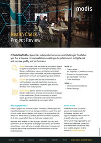 Modis Australia - Health Check Thumbnail - Project Review
