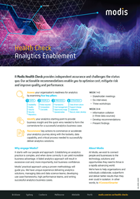 Modis Australia - Health Check Thumbnail - Analytics Enablement