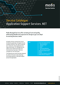 Modis Australia | Service Catalogue Micro Thumbnail - Application Support Services .NET
