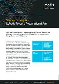 Modis Australia | Service Catalogue Micro Thumbnail - Robotic Process Automation (RPA)