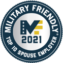 Military Friendly Top 10 Spouse Employer - 2021